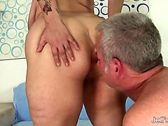 busty plumper sucks a cock and is fucked