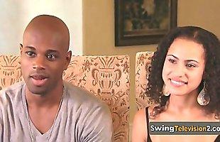 Interviewer welcomes swingers.