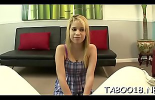 Enchanting teen knows how to stroke and suck an mad dick