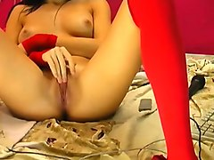 Horny Homemade record with Stockings, Solo scenes
