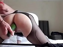 Amateur French milf on real homemade