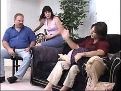 Two girls spanked