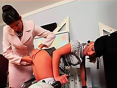mistress ties and tapes up serf in sadomasochism fetish