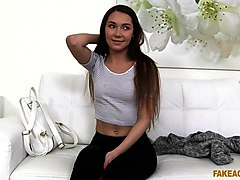 Stacy Snake in Shy Russian Fucked on Casting Couch - FakeAgent